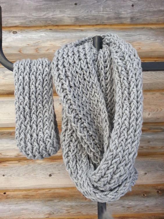 Check out this item in my Etsy shop https://www.etsy.com/listing/259994727/gray-loom-knit-infinity-scarf-headband