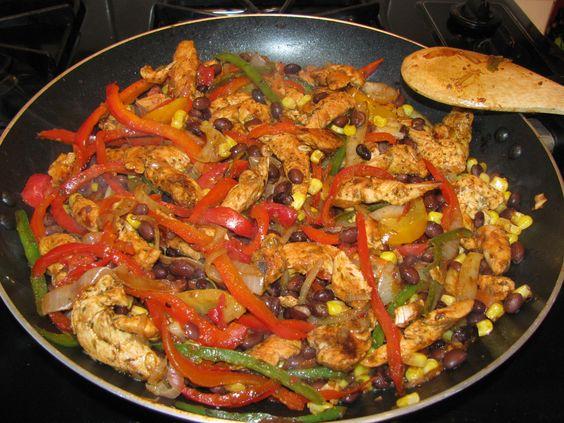 Chicken Fajitas Served 5 Ways- 147 calories
