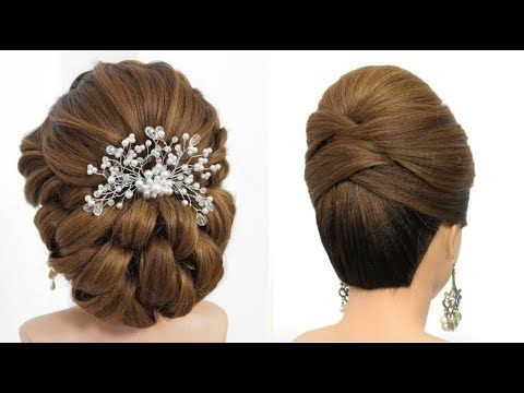 Bridal Updo Tutorial Wedding Prom Hairstyles For Long Hair Youtube In 2020 Long Hair Styles Prom Hairstyles For Long Hair Updo Tutorial