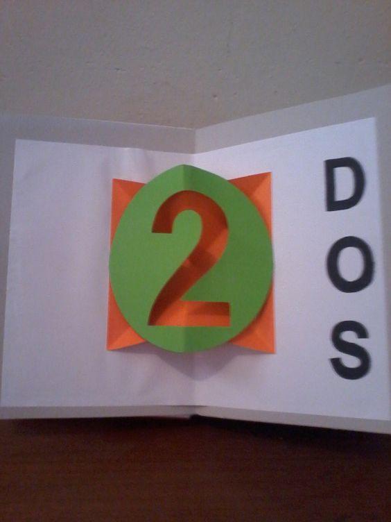 Libro de números, pop up...