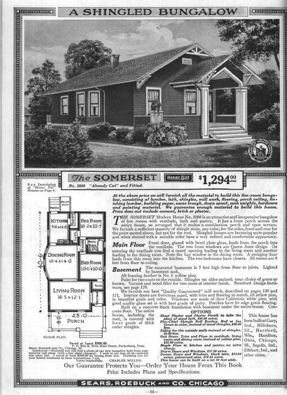 Build like it 39 s 1925 go bungalow kit homes home and for 1925 bungalow floor plan