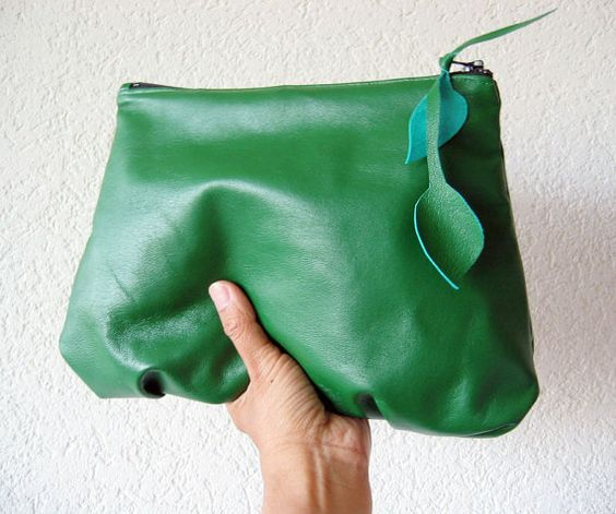This stunning Kelly Green Italian Leather is the newest  Amel...