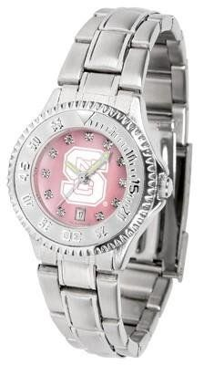 NCSU Wolfpack Ladies Watch Mother-of-Pearl Face by SunTime. $94.95. Links Make Watch Adjustable. Officially Licensed North Carolina State Wolfpack Ladies Stainless Stell Watch. Stainless Steel Band. Women. Mother-of-Pearl and Crystal Face. NCSU Wolfpack Ladies Watch Mother-of-Pearl Face This Wolfpack watch has a functional rotating bezel that is color-coordinated to compliment your favorite team logo. The Competitor Steel utilizes an attractive and secure stainless ste...