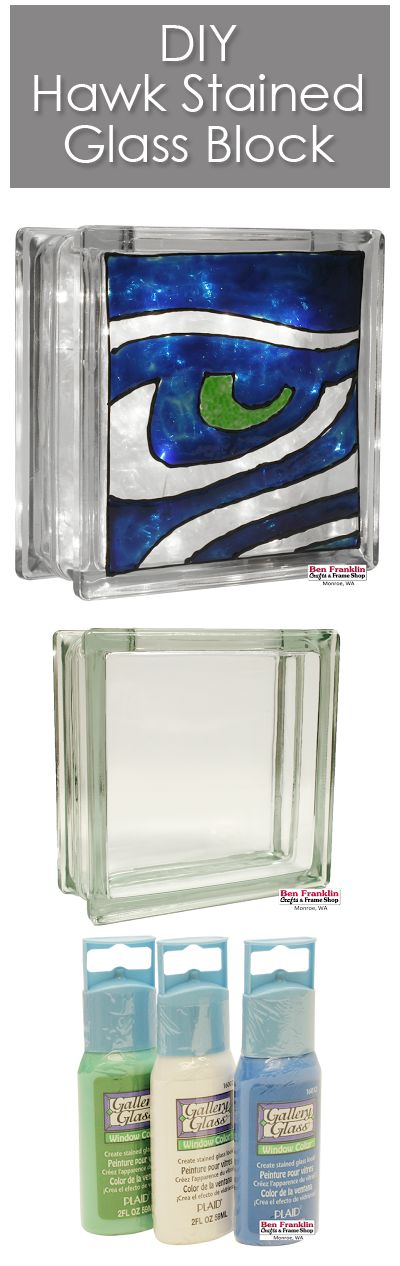 HOW TO CREATE A HAWK STAINED GLASS BLOCK - If you're a big Seahawks fan like we…