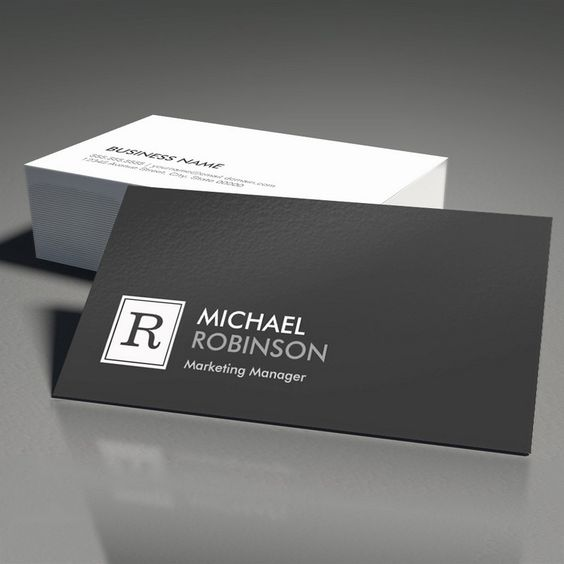 Modern Professional Monogram Black White Business Card Templates. You can customize this card with your own text, logo, photo, or use this pre-existing template for FREE.