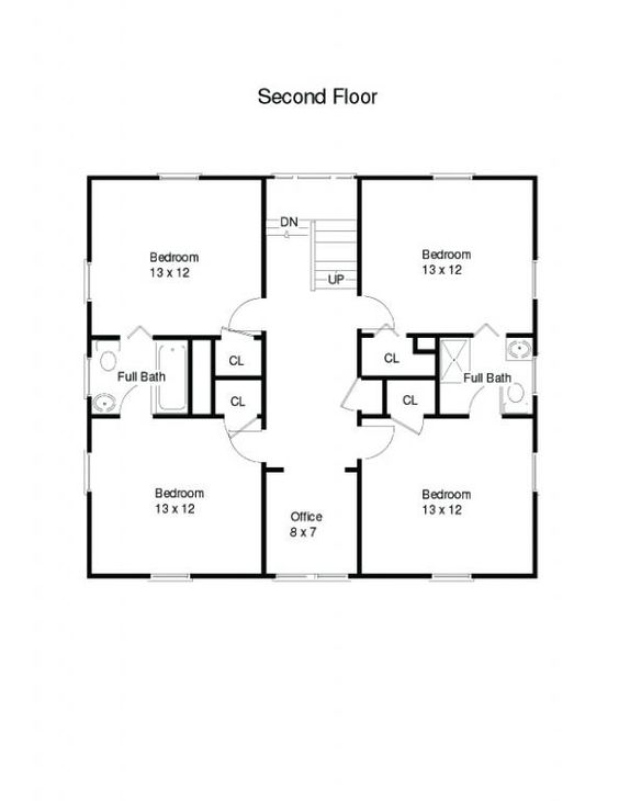 AMERICAN FOUR SQUARE HOUSE PLANS Attached them together to make a
