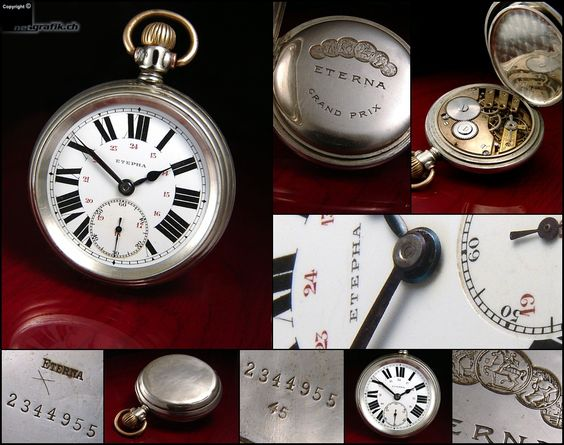 Vintage pocket Eterna supplied to Russia