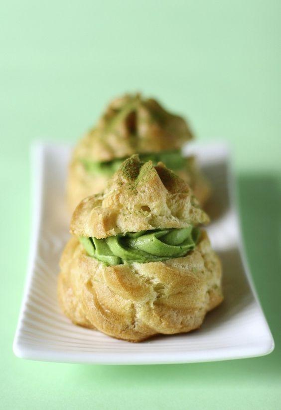 Green Tea Cream Puffs