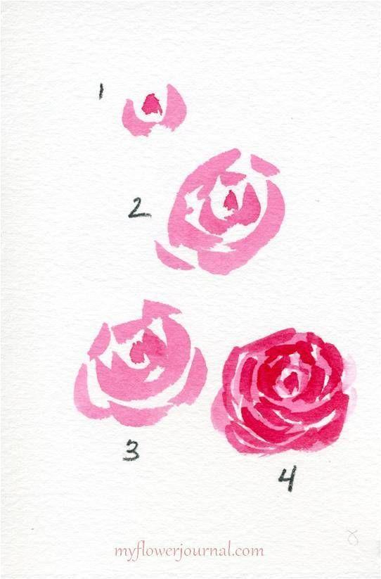 Drawing Flowers Mandala In Ink Watercolor Heart Watercolor