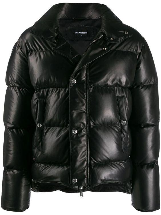 グラメでキムタク着のレザーダウンブランドDsquared2 パデッドジャケット - Farfetch