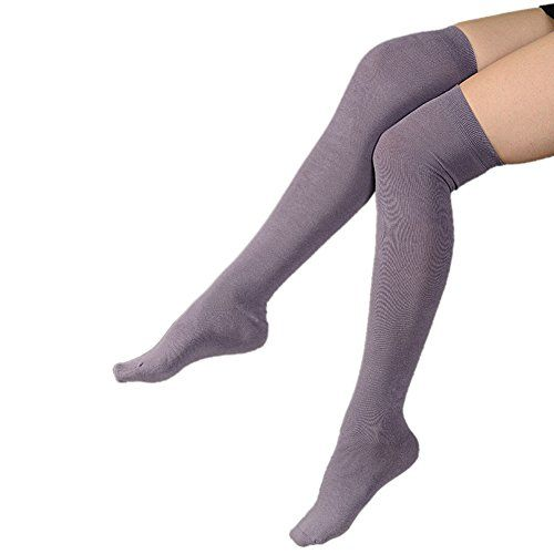 Fletion Damen Kniestrumpfe Elastizitat Baumwolle Hohe Socken Lange Socken Overknee Strumpfhose Leggings Lange Socken Socken Strumpfhose
