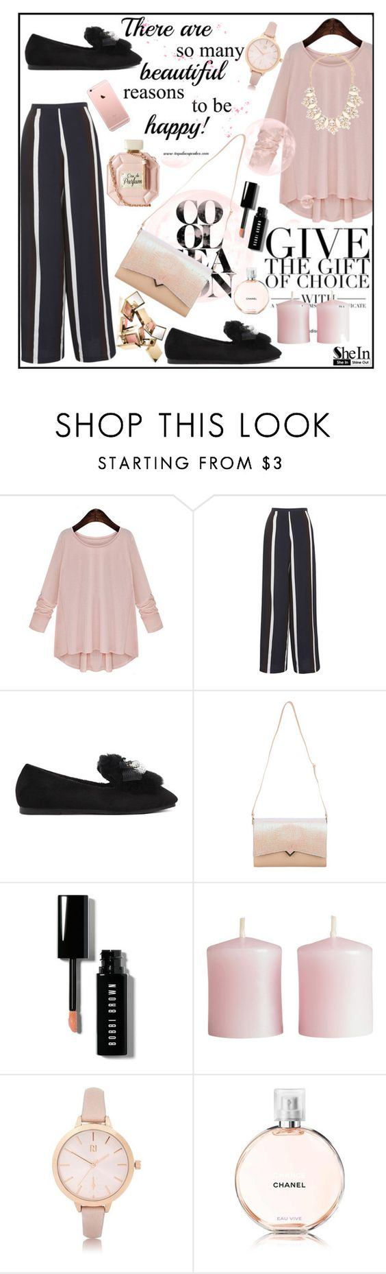 """You are a masterpiece~~!!"" by av-anul ❤ liked on Polyvore featuring Topshop, Bobbi Brown Cosmetics, H&M, River Island, Forever 21, Sheinside, shein and avanul"
