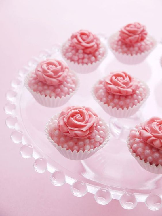 #DIYWedding Recipes:  Bejeweled Truffles>>  http://www.hgtv.com/entertaining/simple-wedding-cakes-and-desserts/pictures/page-10.html?soc=pinterest: Bejeweled Truffles, Wedding Shower, Pink Roses, Cupcakes Ideas, Cupcakes Bejeweled, Wedding Cake, Truffles Recipe, Cupcakes Mini Cakes Sweets