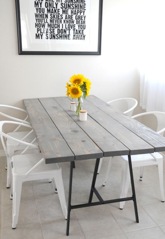 Tisch grau schwarz