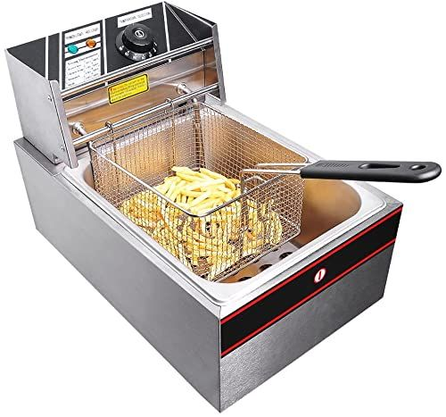 New 2500w 6 Liter Electric Countertop Deep Fryer Tank Basket