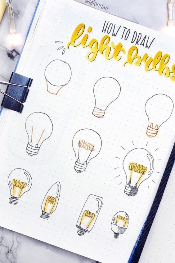 Want to learn how to draw super cute bullet journal doodles?! Check out this list of ideas to help get you started!