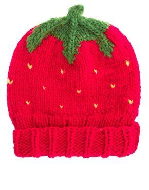 asos strawberry beanie