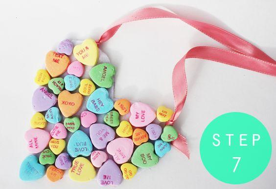 DIY Conversation Heart Necklace