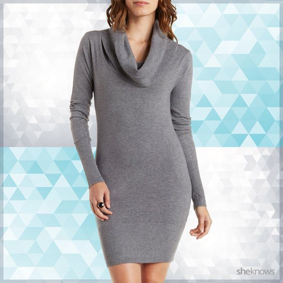 18 Cowl-neck sweater dresses to justify wearing more leggings: Cute sweater dresses