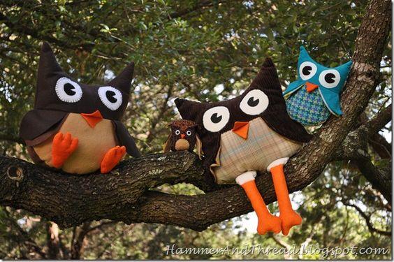 Owls softie tutorial