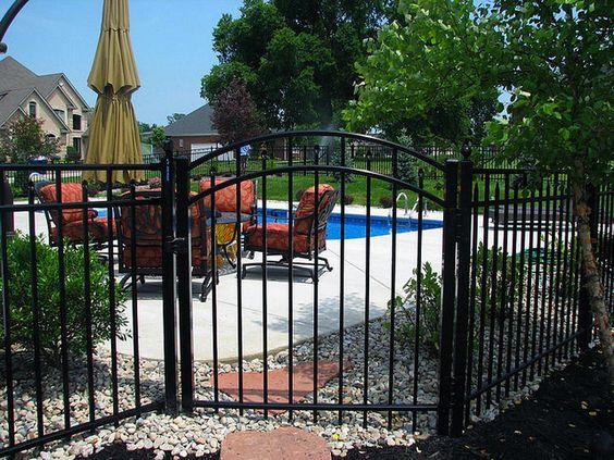 Beautiful Decorative Ornamental Aluminum Fence Gate Great