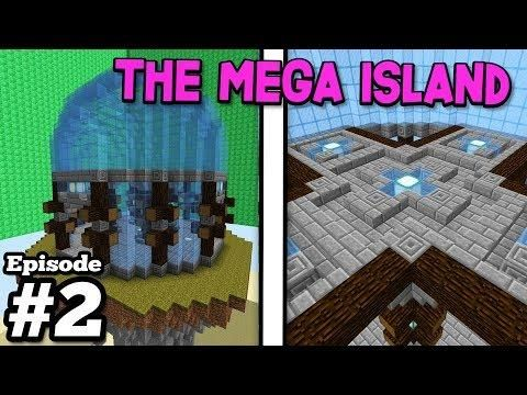 Building The Center Of The Mega Skyblock Island Minecraft 2