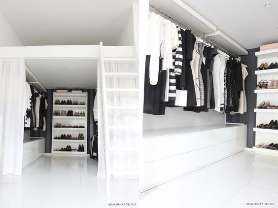 Girly city apartment with walk in closet adalmina 39 s - Schlafzimmer mit begehbarem kleiderschrank ...