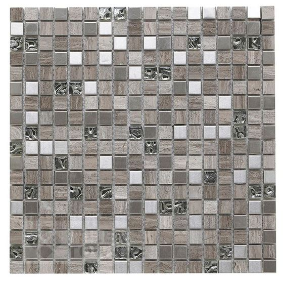 G30134 Cedar Grey Mix Mosaic supplied by Tile Town. Discounted Mosaic Tiles