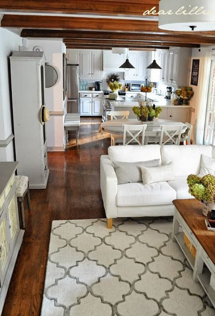 """Funny...exactly like the Harrison House! ear Lillie: We Finally Have a Rug! (Our """"Finished"""" Family Room)"""