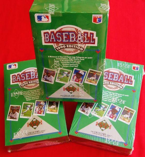 3 Box LOT 1990 Upper Deck Baseball   Sosa ROOKIE ? Sealed Hobby Ryan Ripken ?+