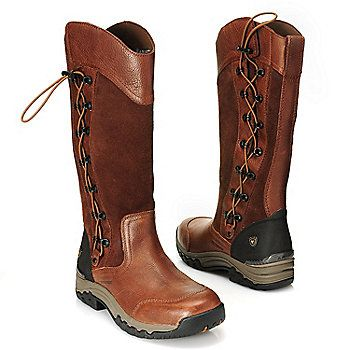 Ariat® Waterproof Suede & Full Grain Leather Scalloped Lace-up ...