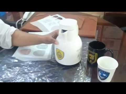الورق المائي الطباعة على فناجيل القهوة الصحون جميع انواع السيراميك Youtube Handcraft Glass Crafts