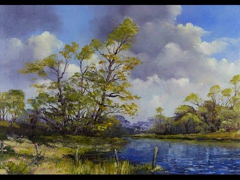 Green Meadows Demonstration Basic Traditional Landscape Oil Painting Tutorial Oil Painting Inspiration Watercolor Paintings Abstract Oil Painting Landscape