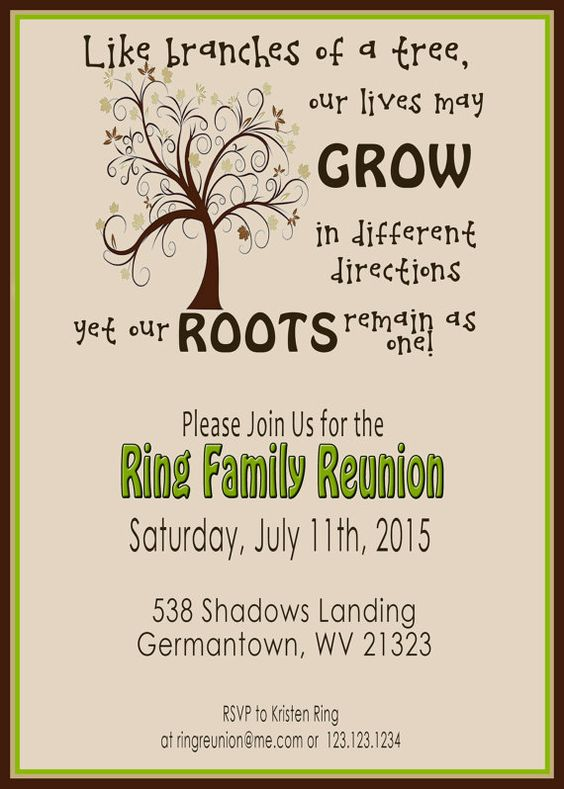 Family Reunion Invites with luxury invitations design