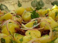 Salada de Batata, Cebola Roxa e Azeitonas