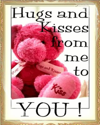Hug And Kiss Love Quotes : sending you a hug quotes Hugs and kisses from me to you