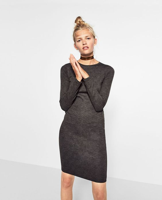 FITTED MID-LENGTH DRESS-TRENDING NOW-WOMAN | ZARA United Kingdom