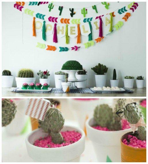 Festa Infantil Novo Boho - Cactos Plantas 1