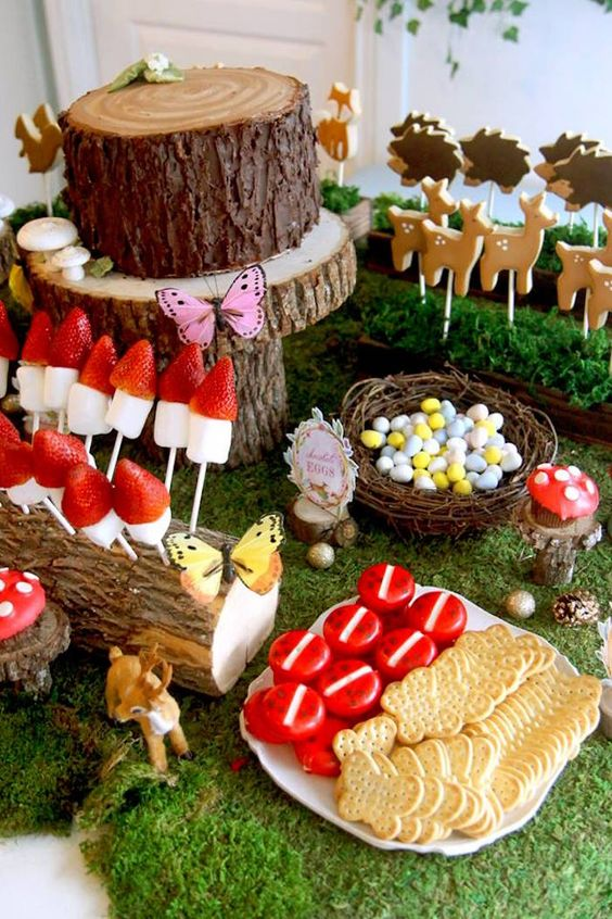 Woodland Sweet Table from a Woodland Fairy Party on Kara's Party Ideas | KarasPartyIdeas.com (13)