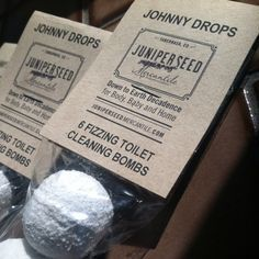 Johnny Drops - Toilet Cleaning Fizzing Bombs - All Natural Concentrate – Juniperseed Mercantile