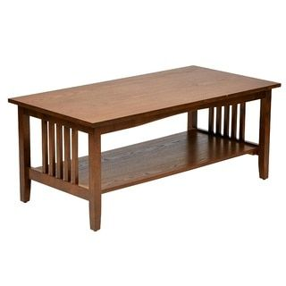sierra mission medium oak finish coffee table by office star products atlantic mission work table