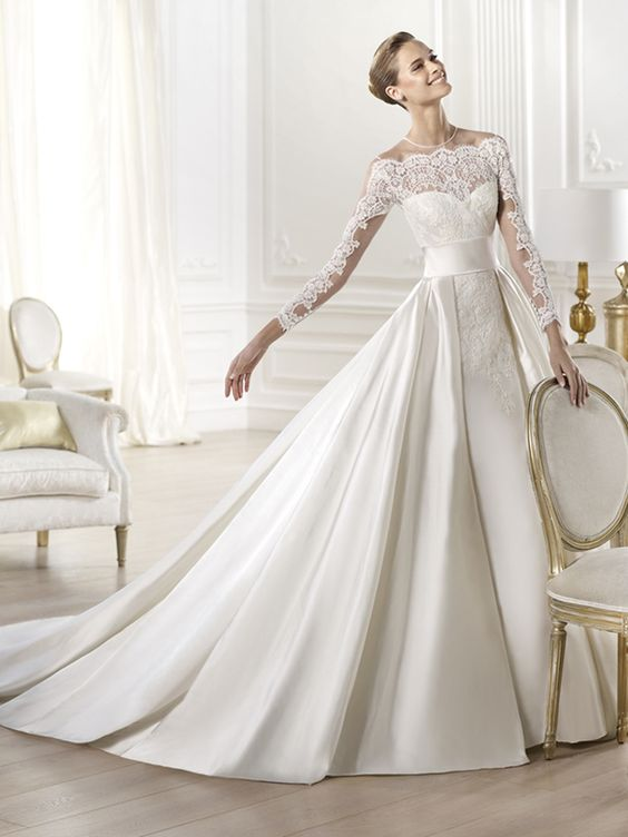 PRONOVIAS 2014 Atelier Collection Yamay www.sterenborgbruidsmode.nl.  Beautiful! Royalty! @Stefanie Adams