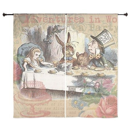 Curtains Ideas alice in wonderland curtains : Mad Tea Party Alice in Wonderland Curtains on CafePress.com ...