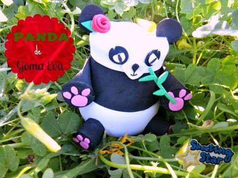 bote panda de goma eva