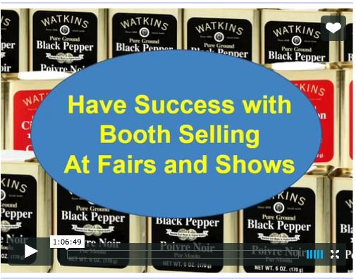J.R Watkins booth sales sell at markets