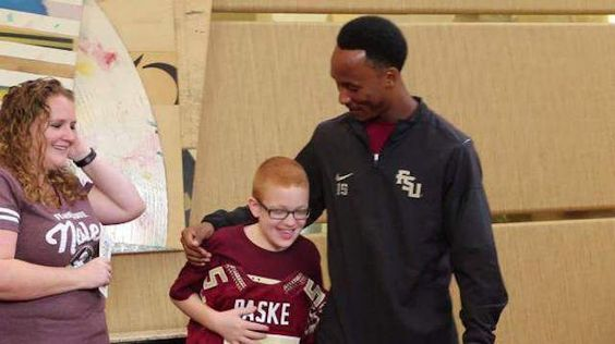 This little boy with autism has become fast friends with a sweet FSU football…