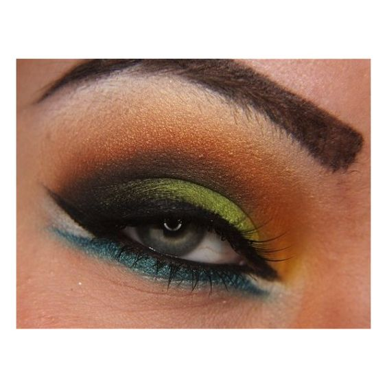 Colorful Arab Eye With MUFE | Idea Gallery | Makeup Geek found on Polyvore