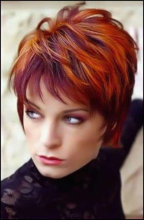 Frisuren rote kurze haare