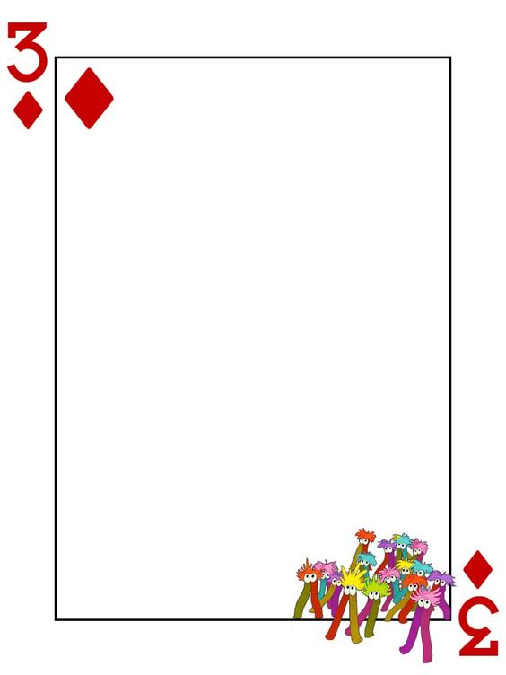 Mome raths 3 of diamonds alice in wonderland playing for Alice in wonderland card soldiers template