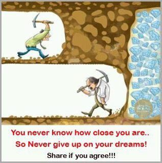 Repin If You Agree!  Never Give Up